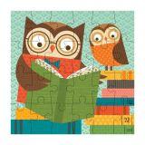 Petitcollage Puzzle sova čte