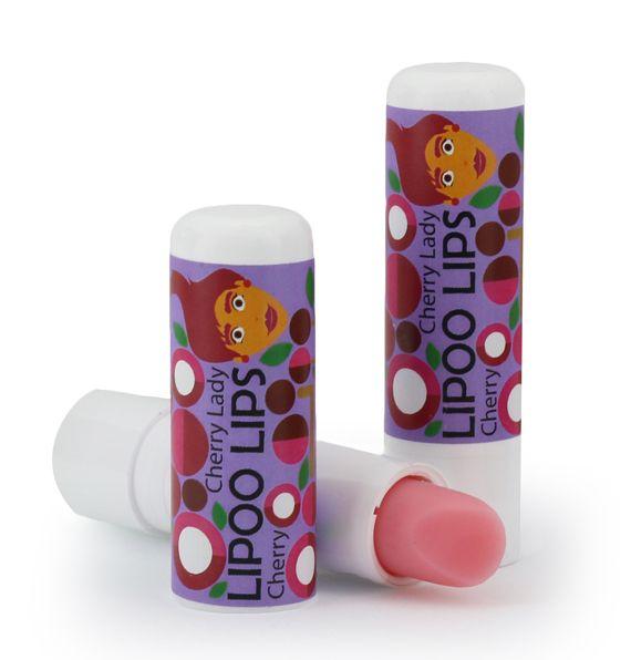 Dřevěné hračky Pomáda na rty Lipoolips - Cherry lady - višeň
