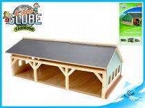 Dřevěná garáž pro traktory 1:87