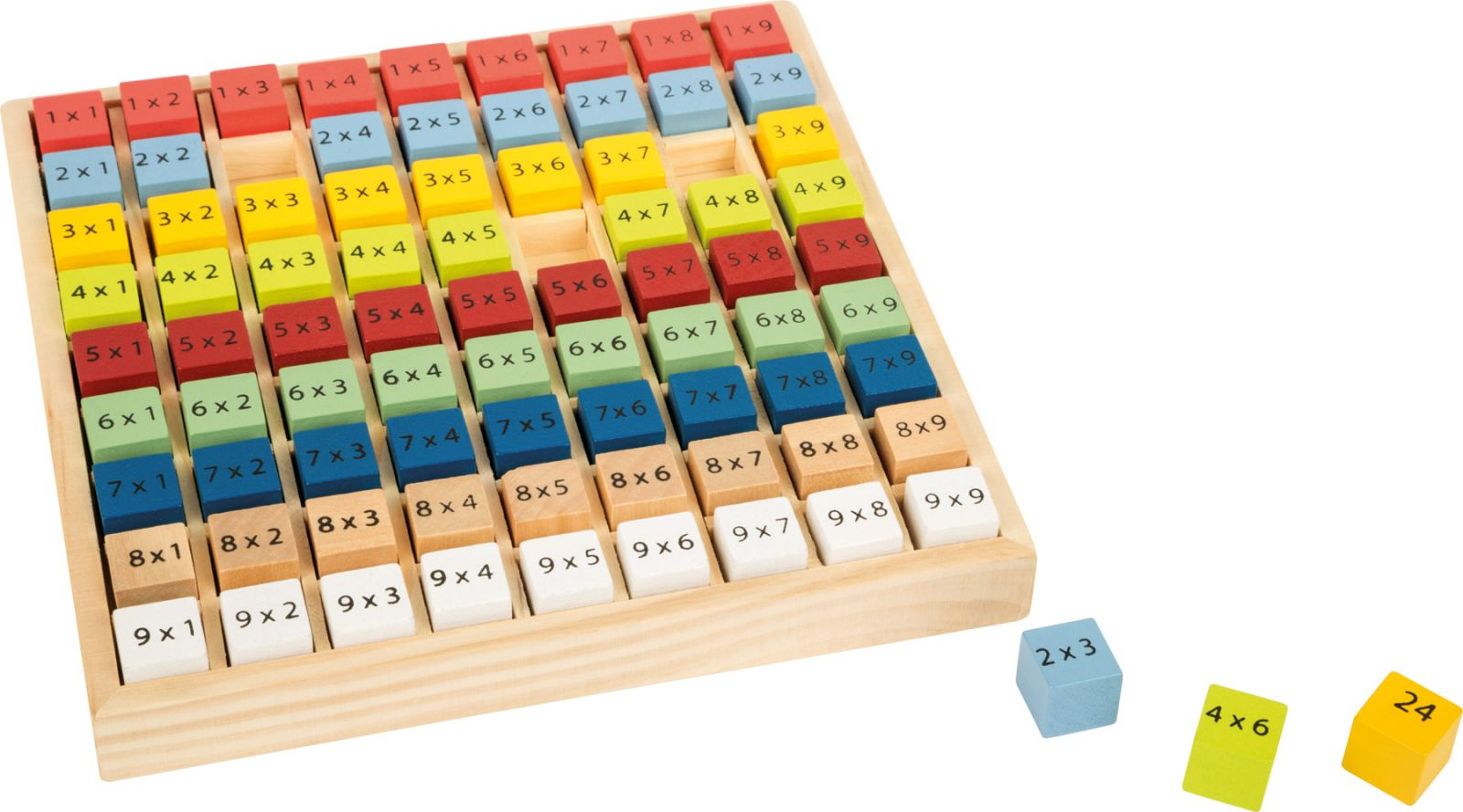 Dřevěné hračky Small Foot Dřevěná vzdělávácí tabulka násobilka Small foot by Legler
