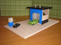 Dřevěná myčka na auta