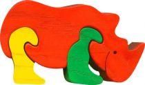 Dřevěné vkládací puzzle z masivu nosorožec