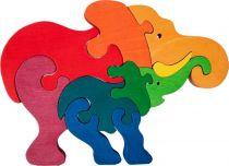 Dřevěné vkládací puzzle z masivu Sloni