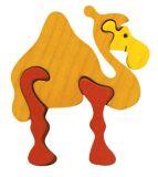 Fauna Dřevěné vkládací puzzle z masivu velbloud