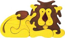 Fauna Dřevěné vkládací puzzle z masivu velký lev