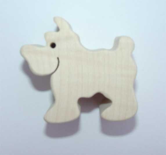 Dřevěné hračky Fauna Dřevěné zvířátko pes