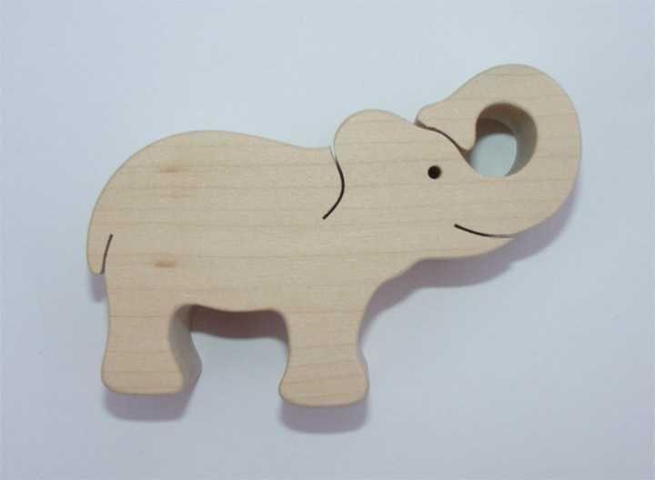 Dřevěné hračky Fauna Dřevěné zvířátko slon