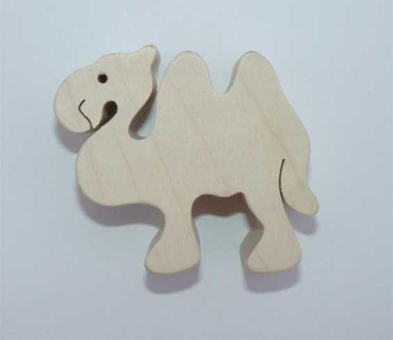 Dřevěné hračky Fauna Dřevěné zvířátko velbloud