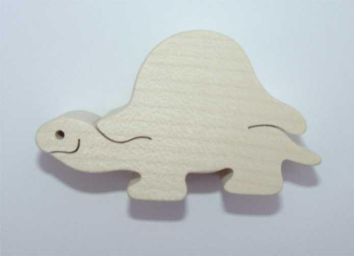 Dřevěné hračky Fauna Dřevěné zvířátko želva