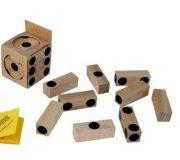 Dřevěný hlavolam kostka Cube