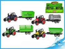 Traktor s vlečkou 1ks zelená