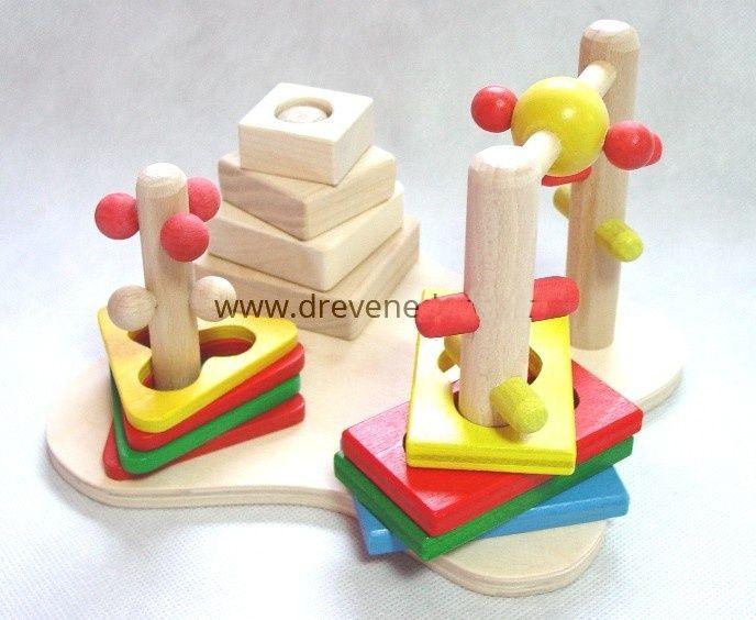 Dřevěné hračky Didaktická hra 3D Česká dřevěná hračka