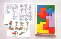 Dřevěná didaktická hračka - Skládačka Pentomino