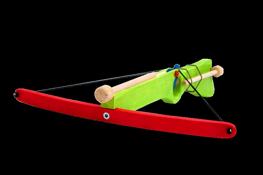 Dřevěné hračky Dřevěná kuše na korkové náboje - zelená Ceeda Cavity