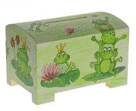 Dřevěná pokladnička - žabky