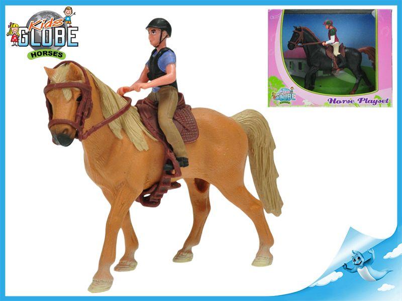 Dřevěné hračky Koník s jezdcem 1ks Mikro Trading