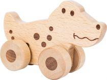Small Foot Dřevěné zvířátko na kolečkách 1ks krokodýl