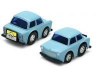 Dřevěné hračky Welly - Autíčka na natahování 3 druhy modrá