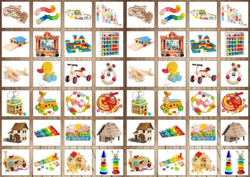 Dřevěné hračky Pexeso Dřevěné hračky cz - papírové