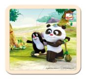 Bino Puzzle Krtek a Panda koloběžka