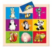 Bino Vkládací puzzle Krtek a Panda