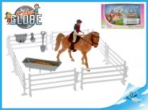Koník s jezdcem 13cm s doplňky