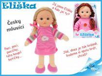 Mrkací panenka Eliška 30cm mluvící růžová blond