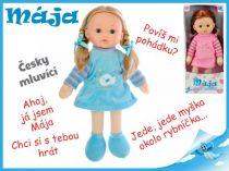 Mrkací panenka Mája 42cm mluvící modrá