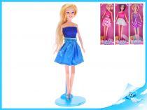Panenka kloubová  na podstavci modré šaty blond