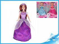 Panenka princezna kloubová fialové šaty