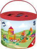 Dřevěné hračky Small Foot Dřevěná stavebnice farma 80 ks Small foot by Legler