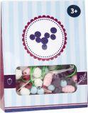 Small Foot Dřevěné korálky Candy 1ks fialová