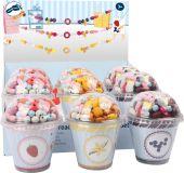 Small Foot Dřevěné korálky Candy Cupcake 1ks fialová