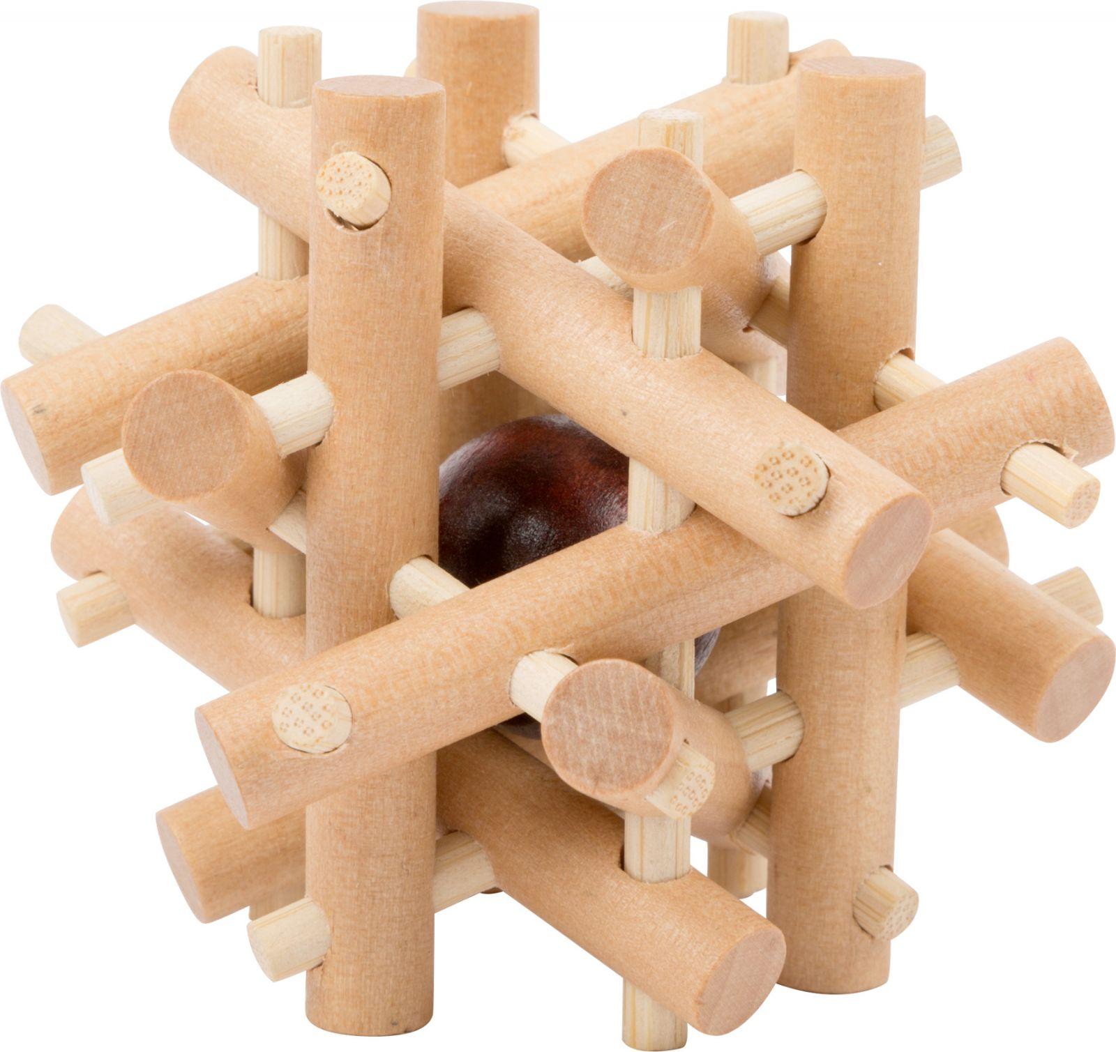 Dřevěné hračky Small Foot Dřevěný hlavolam 1ks číslo 1 Small foot by Legler