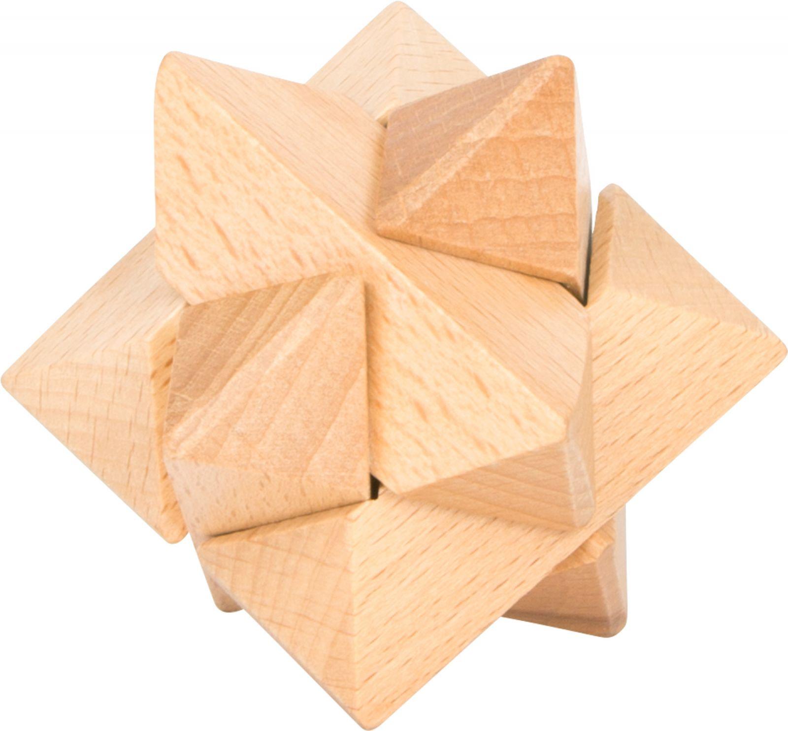 Dřevěné hračky Small Foot Dřevěný hlavolam 1ks číslo 6 Small foot by Legler