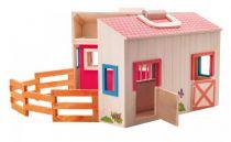 Dřevěné hračky Woody Stáj