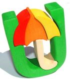 Fauna Abeceda písmenko U deštník