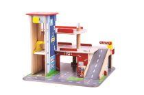 Bigjigs Toys Garáž s parkovištěm