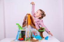 Dřevěné hračky Bigjigs Toys Dinopark ostrov dinosaurů