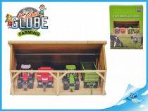 Dřevěná garáž pro traktory 1:50