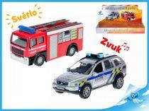 Kovové záchranářské auto 11 cm policie