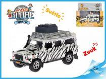 Kovový Land Rover safari se zvukem