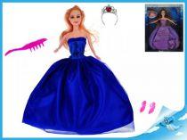 Panenka kloubová 29cm s doplňky fialové šaty