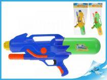 Vodní pistole s pumpou 55cm modrá
