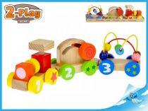 Dřevěný Vláček s vagónky 2-Play