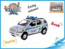 Kovové policejní auto česky mluvící