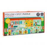 Dřevěné hračky Petitcollage Bludiště a puzzle Náš domov