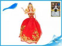 Princezna 29cm s vyšívanými šaty bílými