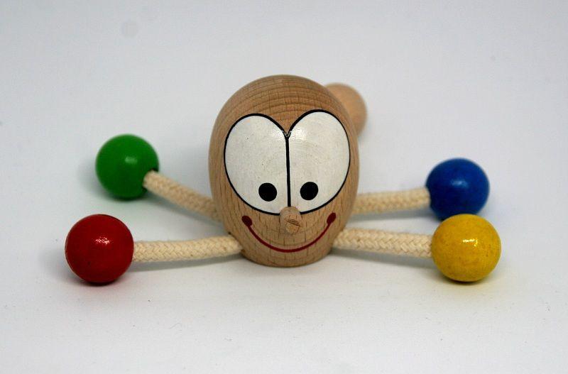 Dřevěné hračky Chobotnice těžítko - dřevěná hračka ručně malovaná Česká dřevěná hračka