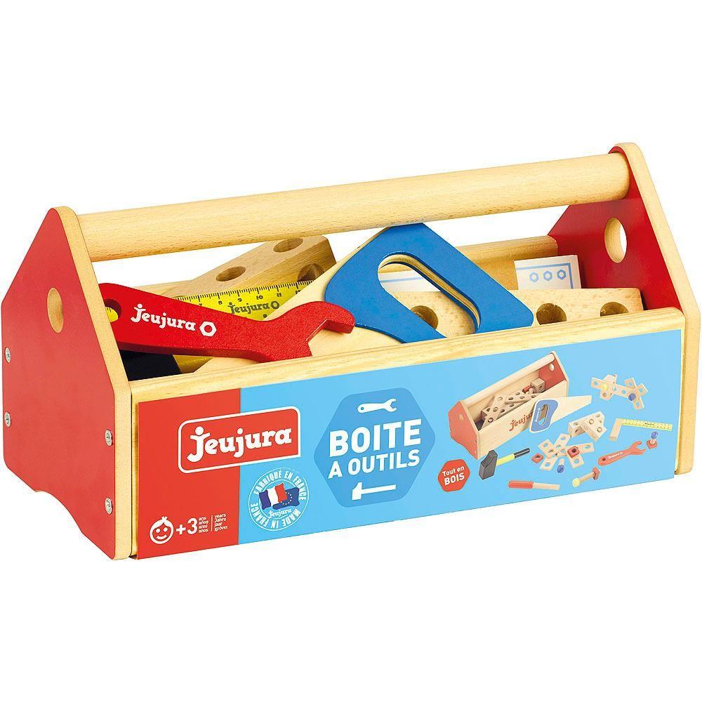 Dřevěné hračky Jeujura Dřevěná sada nářadí v kufru